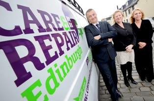 Care & Repair Staff, 23/09/2015: Care & Repair staff (from left) are Chief Executive Graham Harper, Volunteer Coordinator Yvonne Georgeson and Head of Operations Louise Love. Photography from: Colin Hattersley Photography - colinhattersley@btinternet.com - www.colinhattersley.com - 07974 957 388