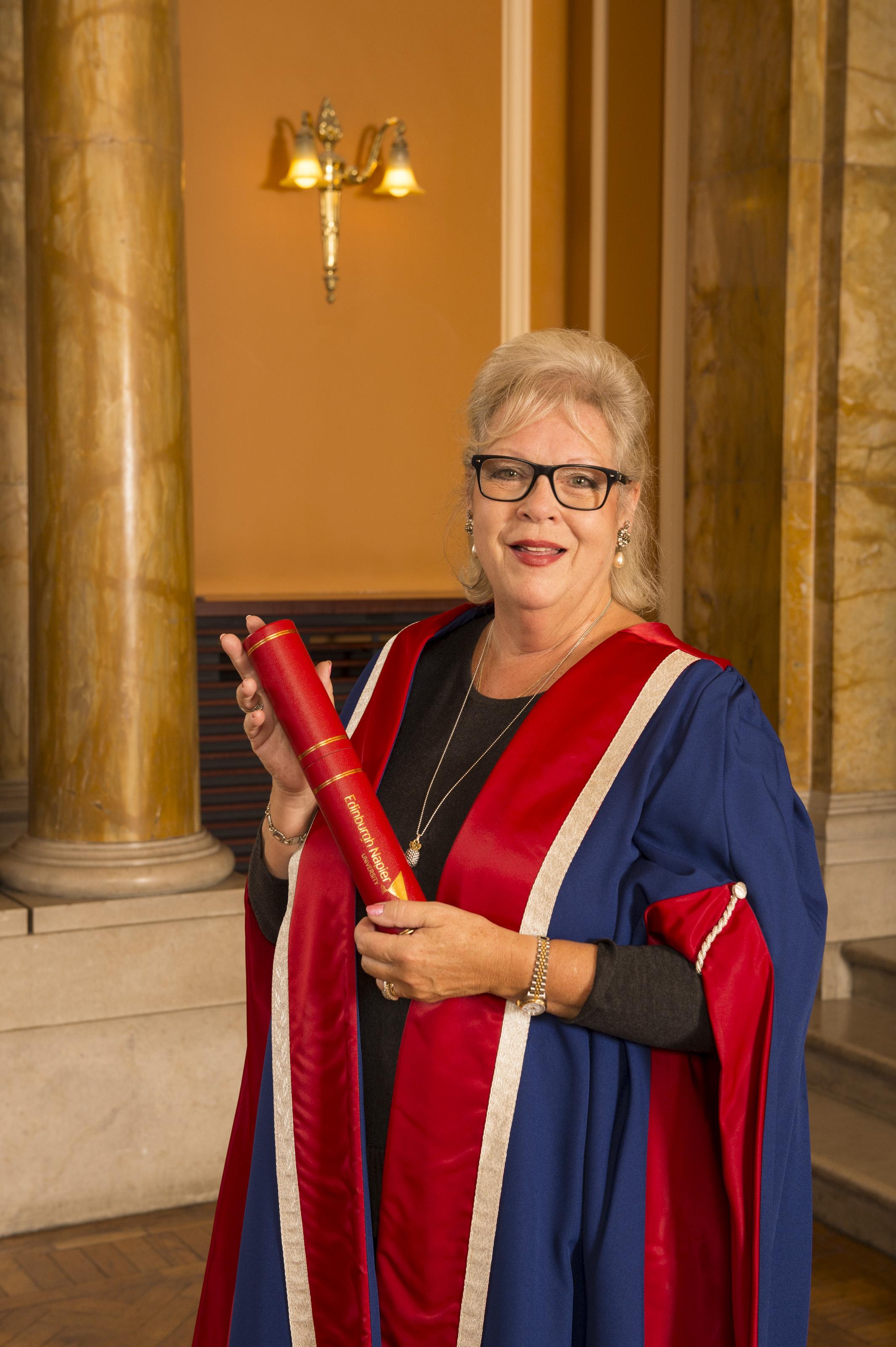 Honorary Graduand Susie Henry.  Honorary Fellowship.