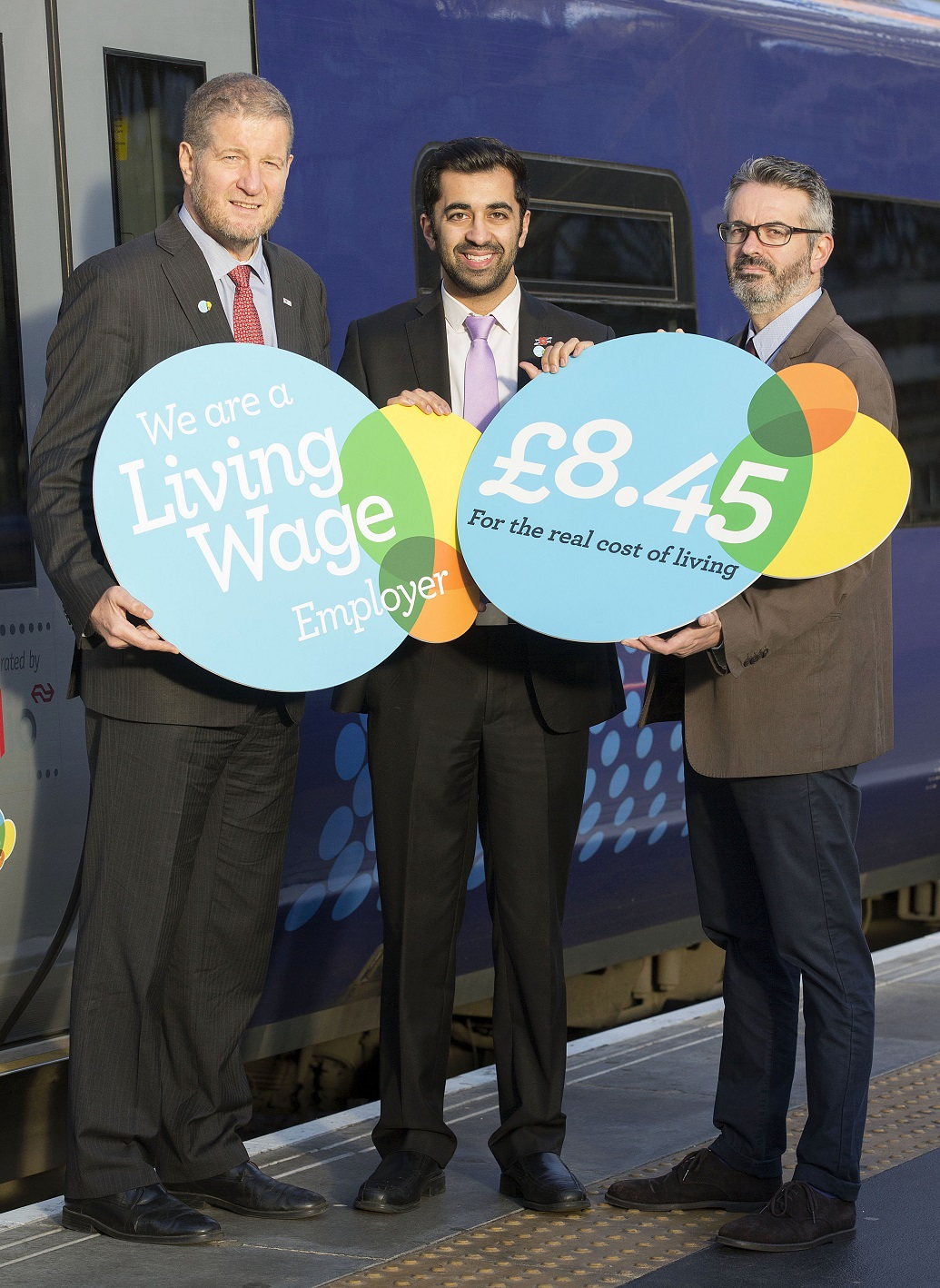 01/11/16 - 16110101 - ABELLIO SCOTRAIL    GLASGOW     (L-R) Managing Director Scotrail Alliance Phil Verster, Minister for Transport and Islands Humza Yousaf and Director of Poverty Alliance Peter Kelly