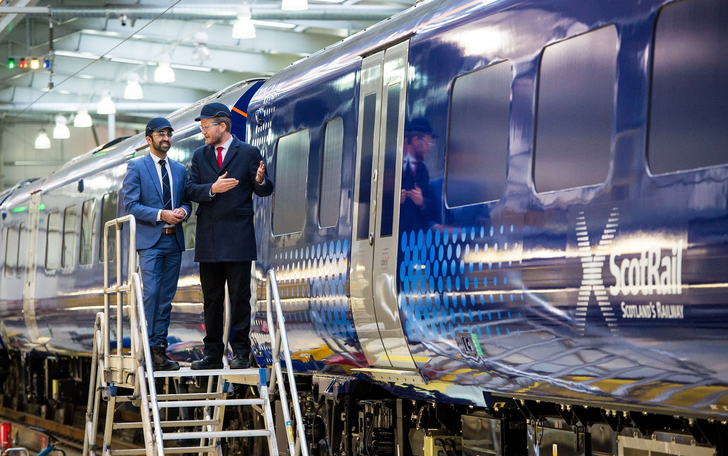 11/12/16    SHIELDS DEPOT - GLASGOW    Humza Yousaf (Transport Minister) and Phil Verster (Managing Director of ScotRail Alliance) unveil the first of a new fleet of Class 385 trains at Shields Depot