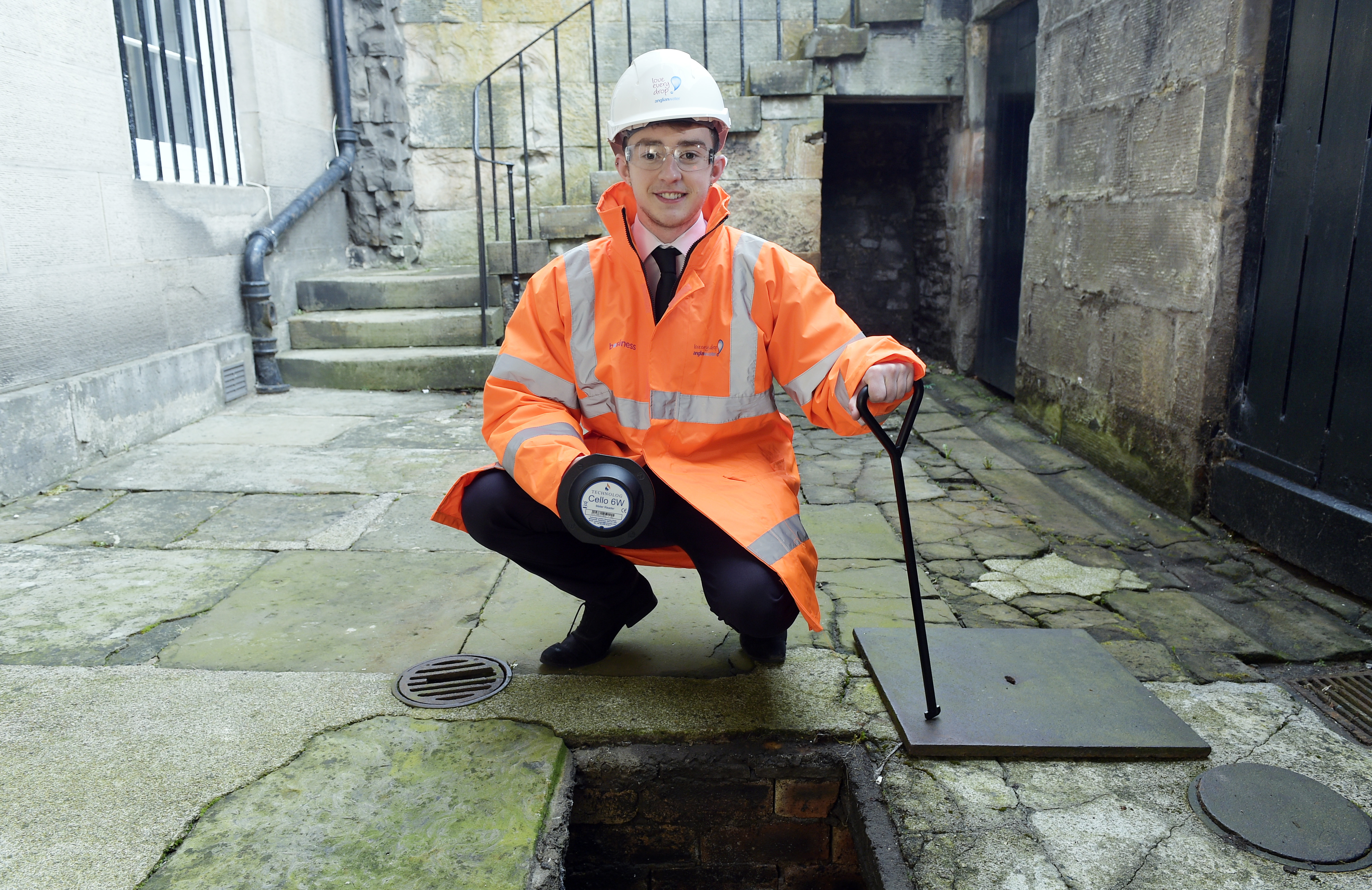 Anglian Water Business pictured apprentice Owen Forrest | © Sandy Young