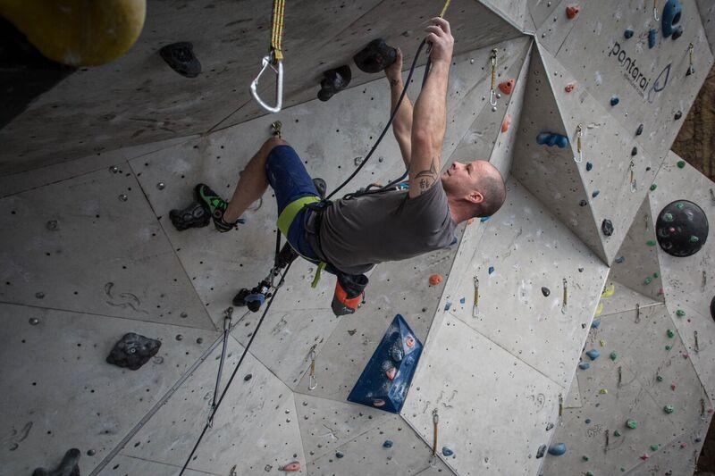 Paraclimber,KeithLynchhelpslaunchParaclimbingCupatEICARathoFinalcrux-9