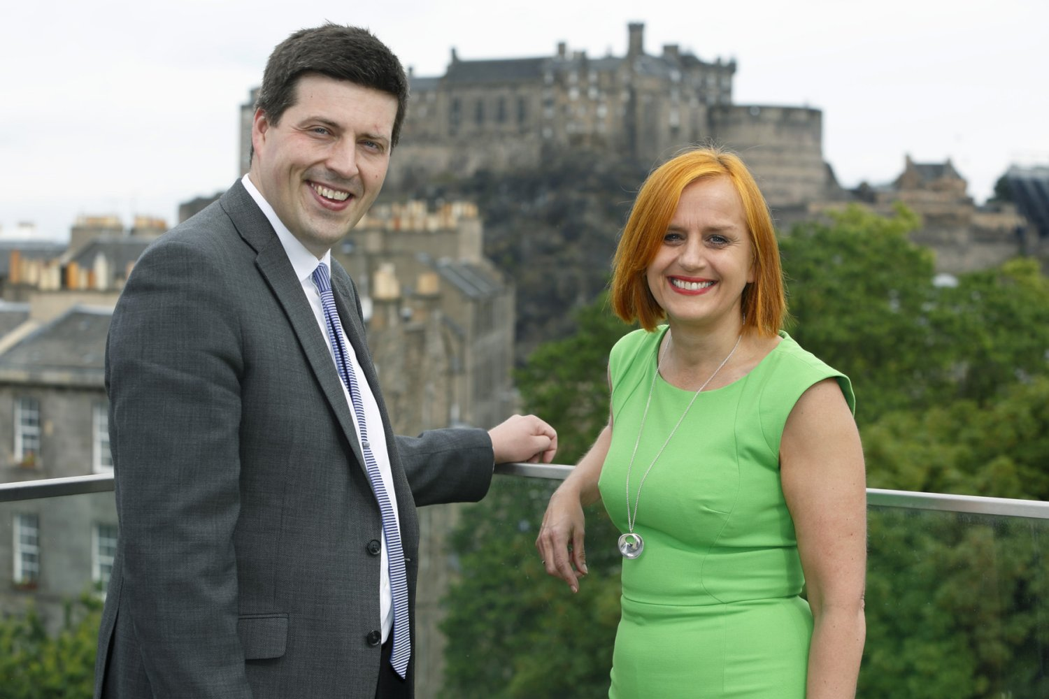 Jamie Hepburn MSP and Amanda Jones Jun 17