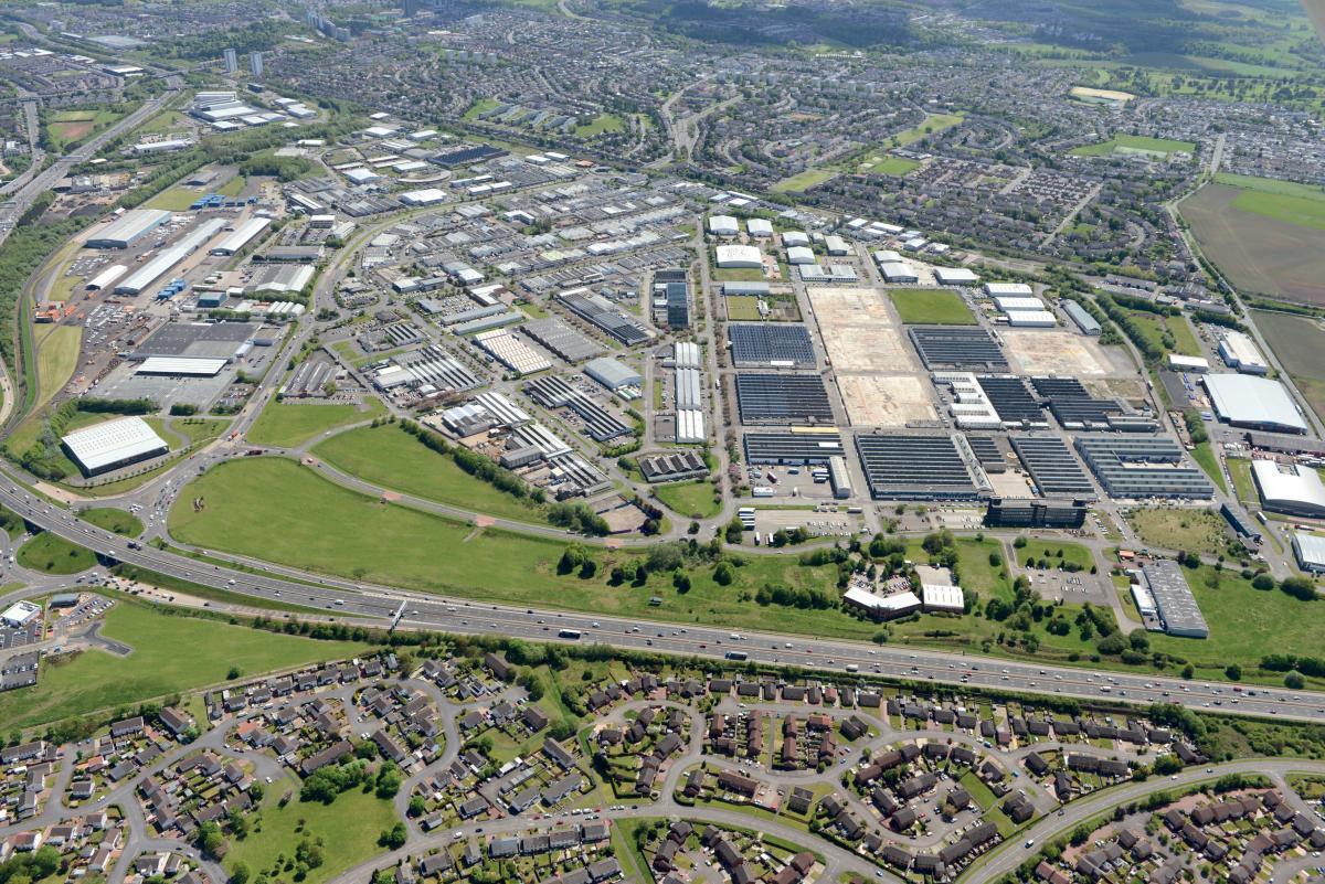 Hillington Park aerial