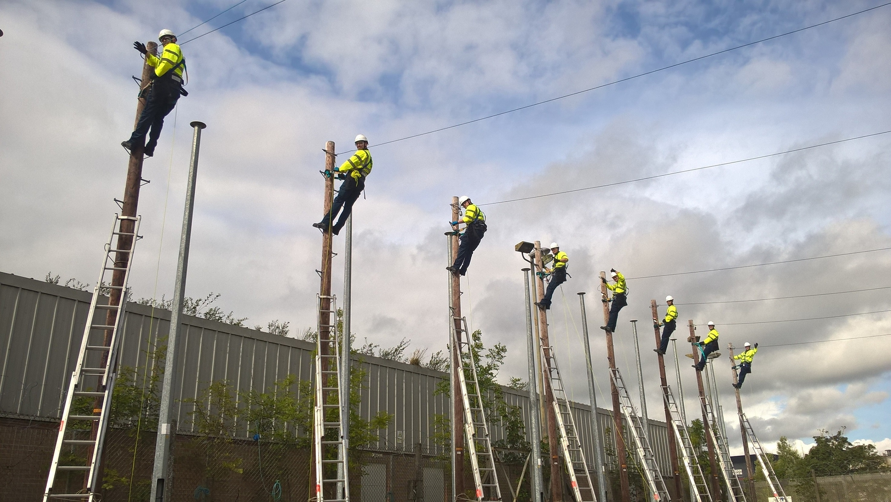 Openreach trainees poles