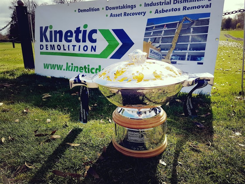 Kinetic Demolition with Scottish Open Trophy