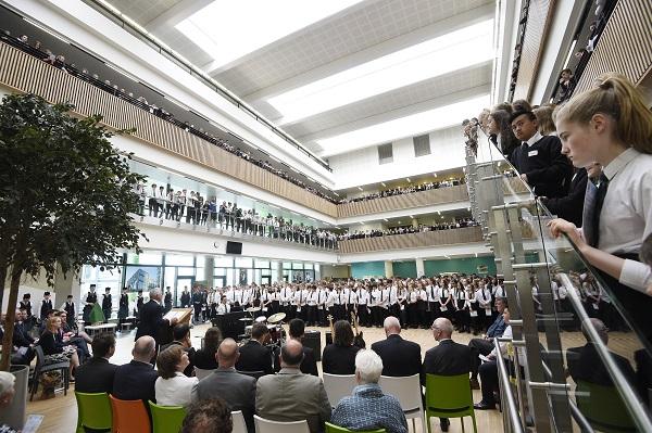 Pic - Greg Macvean - 13/06/2018 - 07971 826 457 Boroughmuir High School official opening by Shirley-Anne Somerville MSP with Head Teacher David Dempster