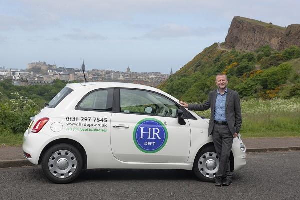 HR Dept. Ian Pilbeam Pictured in Edinburgh, Scotland. With new branded car. PIC PHIL WILKINSON  info@philwilkinson.net www.philwilkinson.net 01316186373 - 07740444373