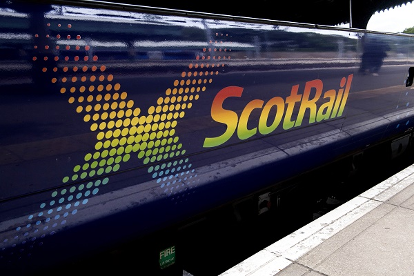 15/06/18 - 18061502 - SCOTRAIL EDINBURGH WAVERLY STATION - EDINBURGH Scotrail show their support for Pride Edinburgh by displaying their logo on the side of one of their trains