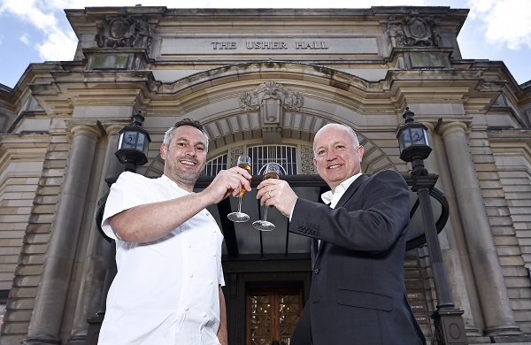 Karl Chapman,General Manager of the Usher Hall and Dominic Jack, Head Chef at Castle Terrace Restaurant launch a new partnership between the two Edinburgh institutions. Neil Hanna Photography www.neilhannaphotography.co.uk 07702 246823